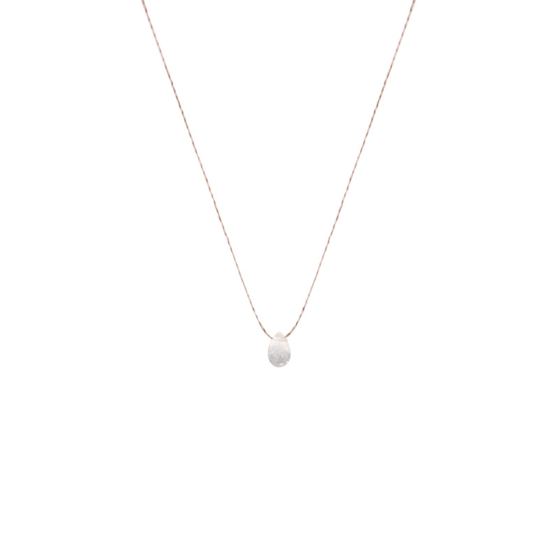 Collier goutte topaze rose
