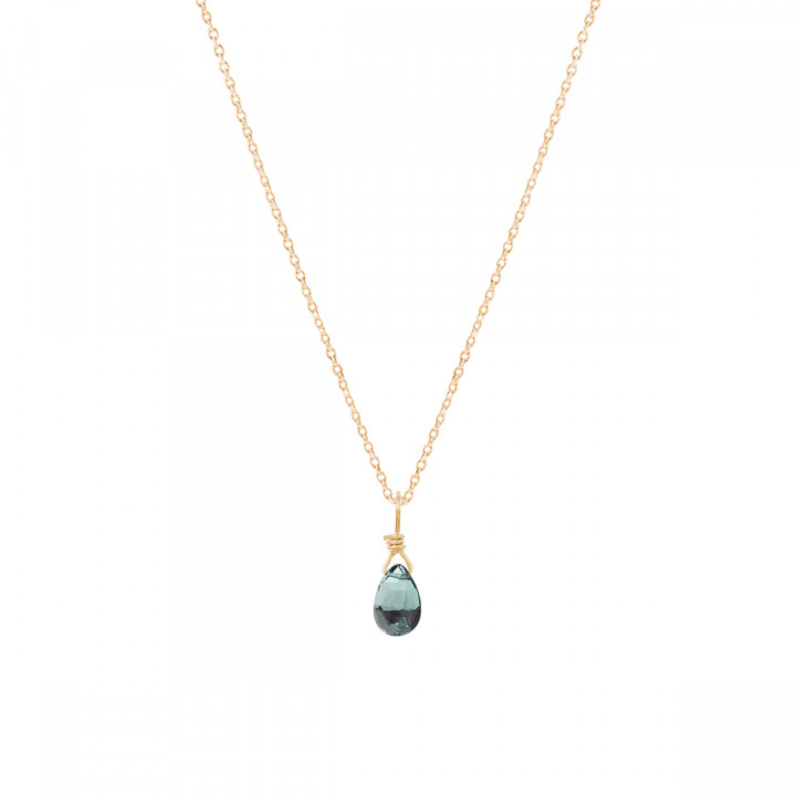 Chain necklace with spinel drop