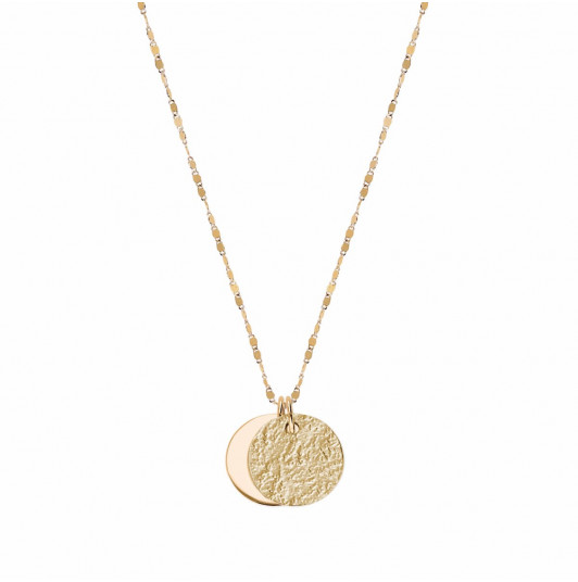 Faceted chain necklace with two Maya medals