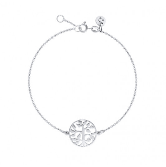 Chain bracelet with tree of life