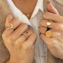 Gold-plated thick circle ring