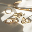 Gold-plated circle and stem ring