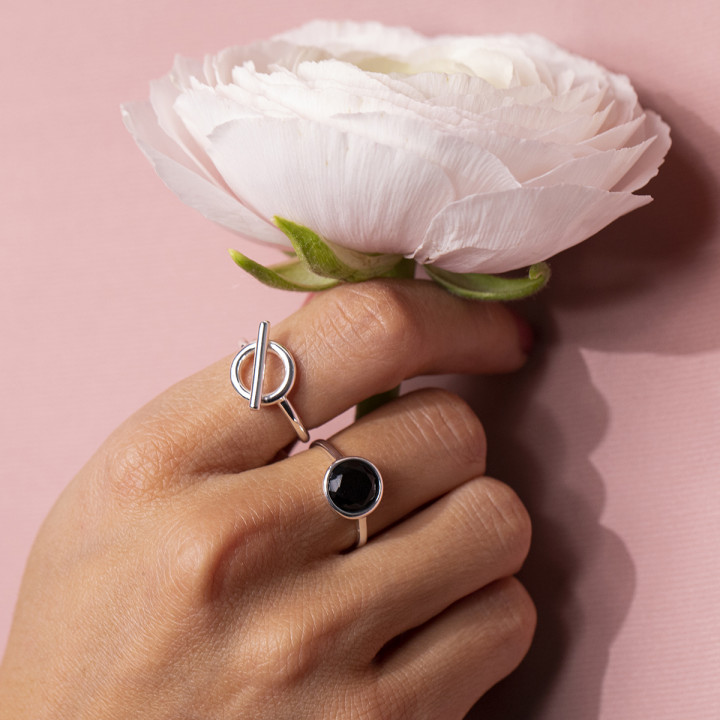 925 Silver t toggle ring