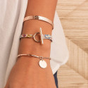 Rose gold-plated champetre trio