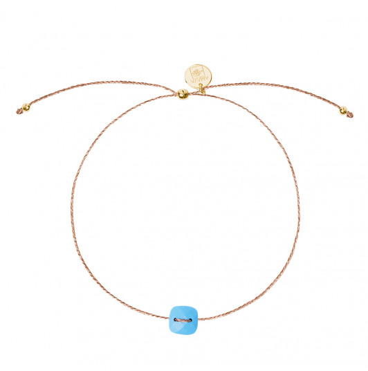 Silky thread bracelet with Turquoise stone