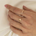 Rose gold-plated zig zag ring