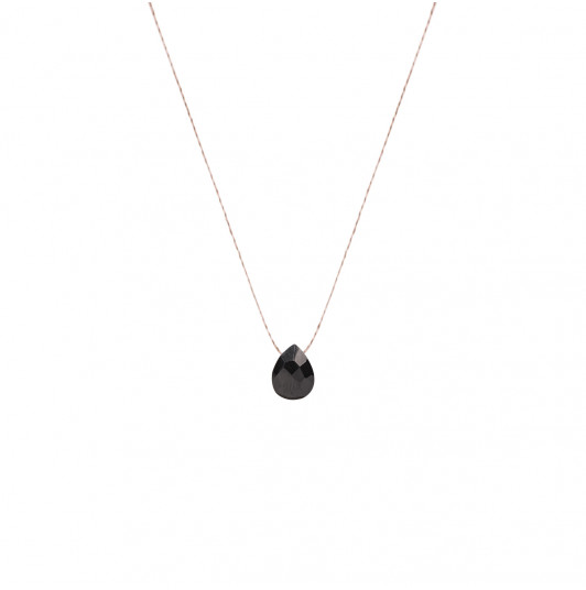 Collier goutte Onyx