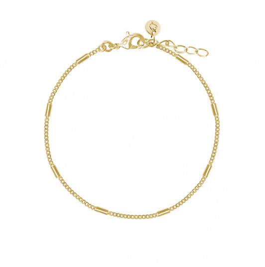 Chain bracelet with tubes