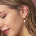 Gold-plated [Single] chiselled open earring