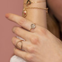Gold-plated textured medal ring