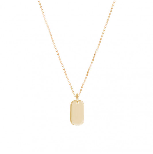 Chain necklace with small oval medal