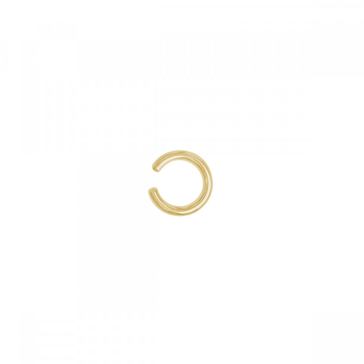 Gold-plated [Single] smooth open earring