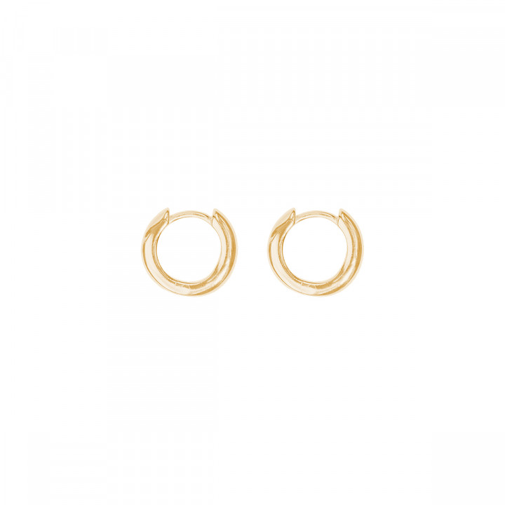 Gold-plated small smooth hoop earrings