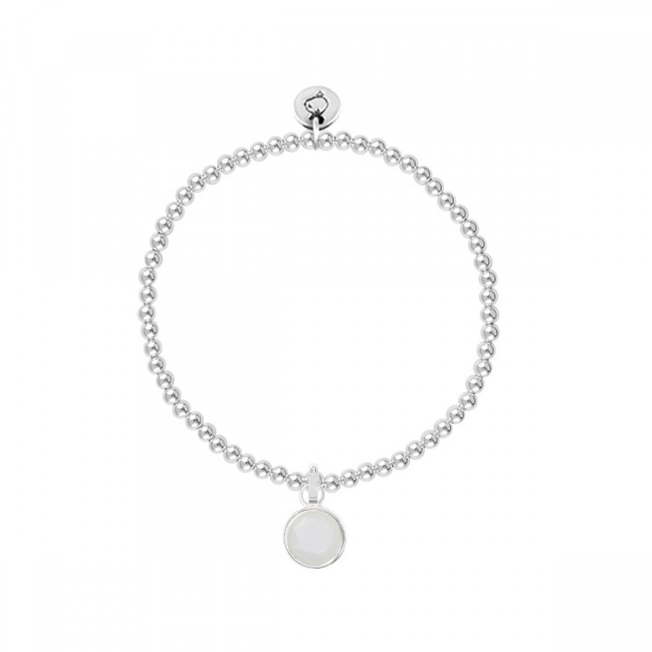 925 Silver 3mm beads bracelet with pendant