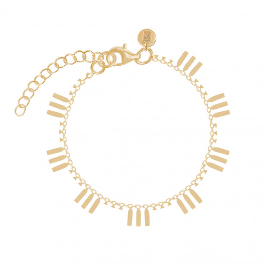 Chain bracelet with hanging rods