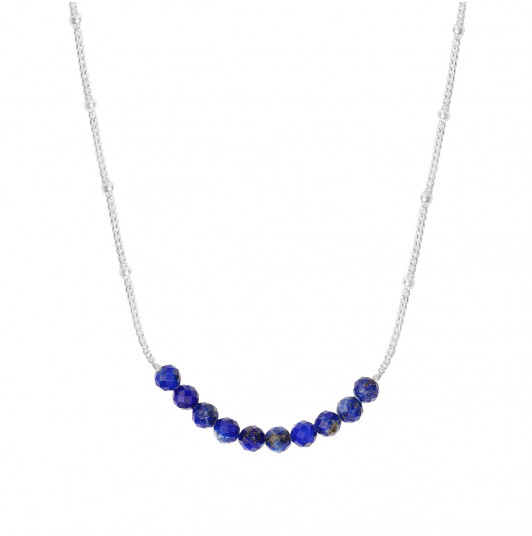 Chain necklace with Lapis Lazuli row