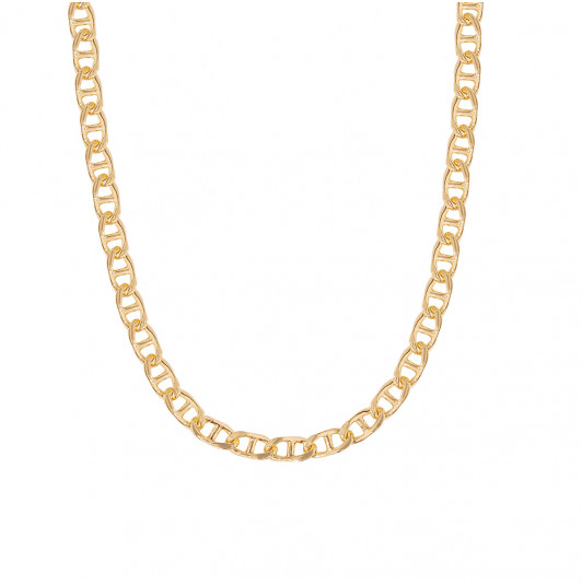 Navy mesh chain necklace