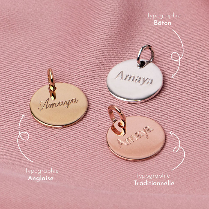 Rose-gold plated hollowed heart medal
