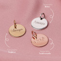 Flat rose gold-plated medal