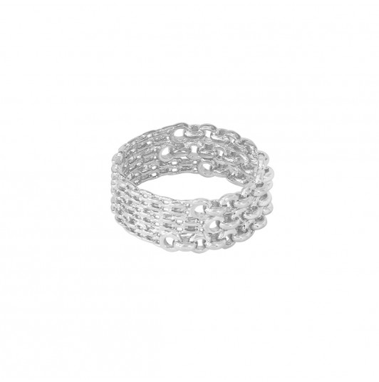 Chain effect tube ring
