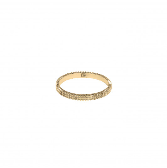 Band ring with 3 rows of beads