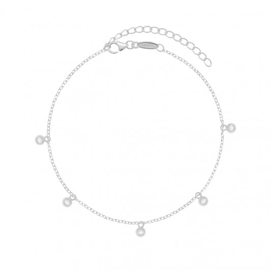 Chain anklet with small beads