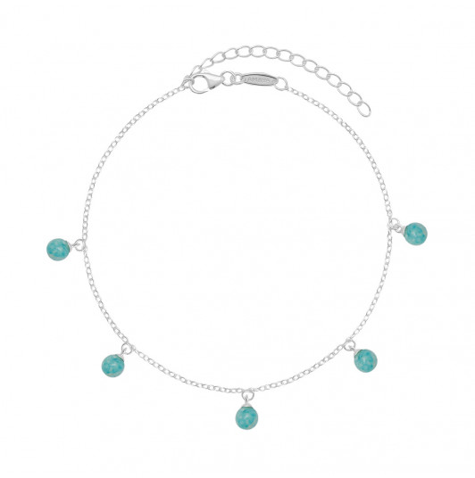 Chain anklet with Amazonite beads
