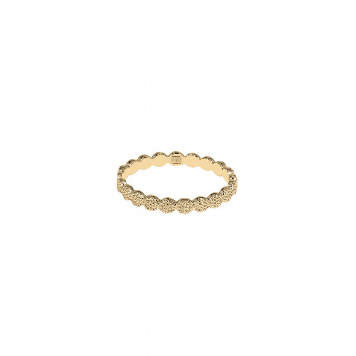 Gold-plated textured feston band ring