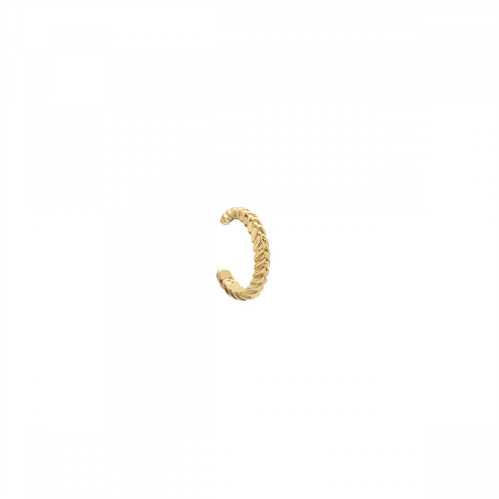 Gold-plated [Single] braided open earring