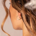 Gold-plated thick & hammered hoop earring