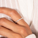 925 Silver beaded band ring