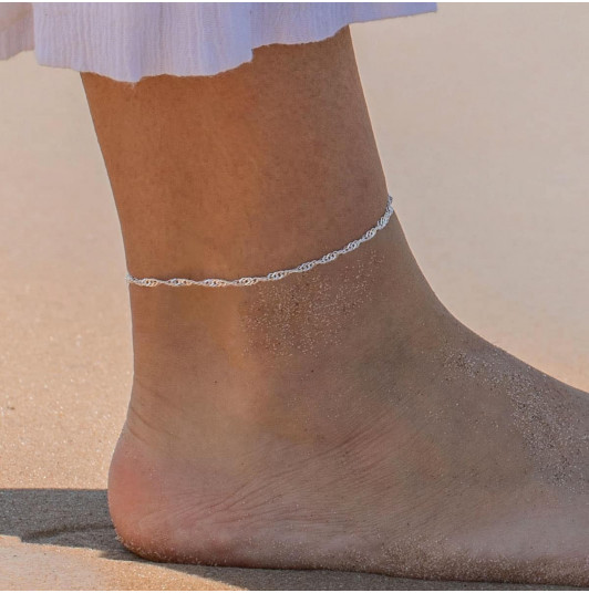 Twisted chain anklet