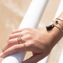 T toggle gold-plated ring