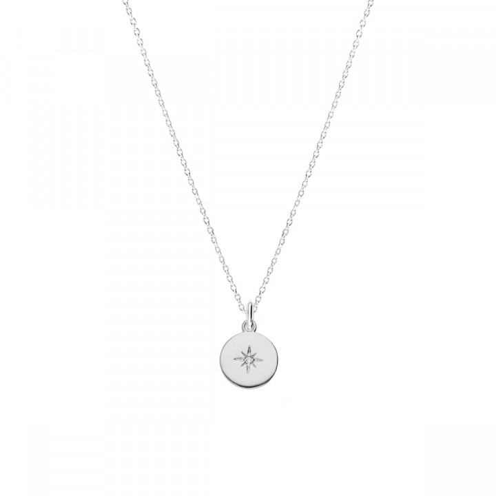 925 silver shining star chain necklace