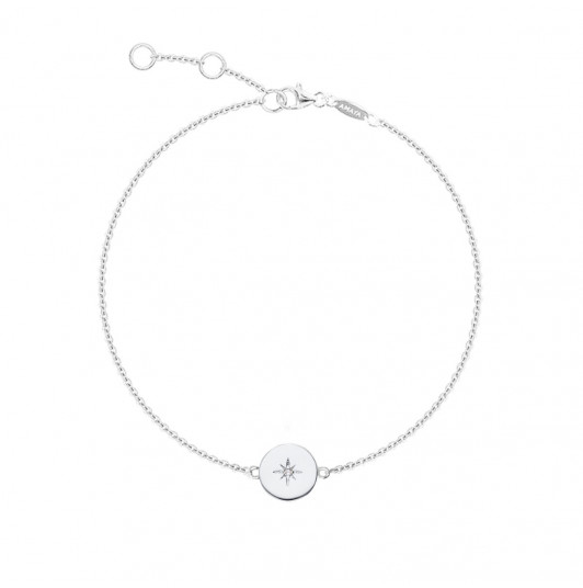 Chain bracelet with shining star