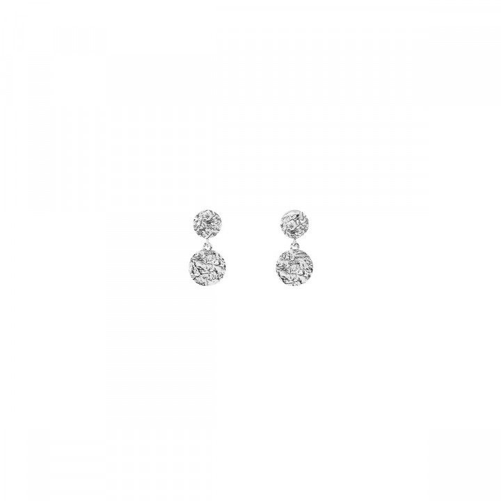 925 Silver Stud earrings with textured medals
