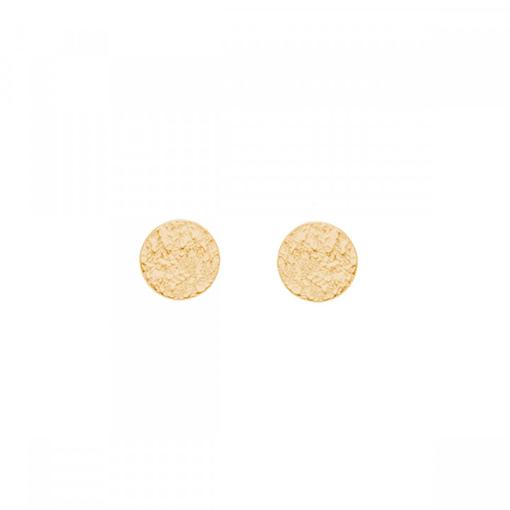 Gold-plated Small textured stud earrings