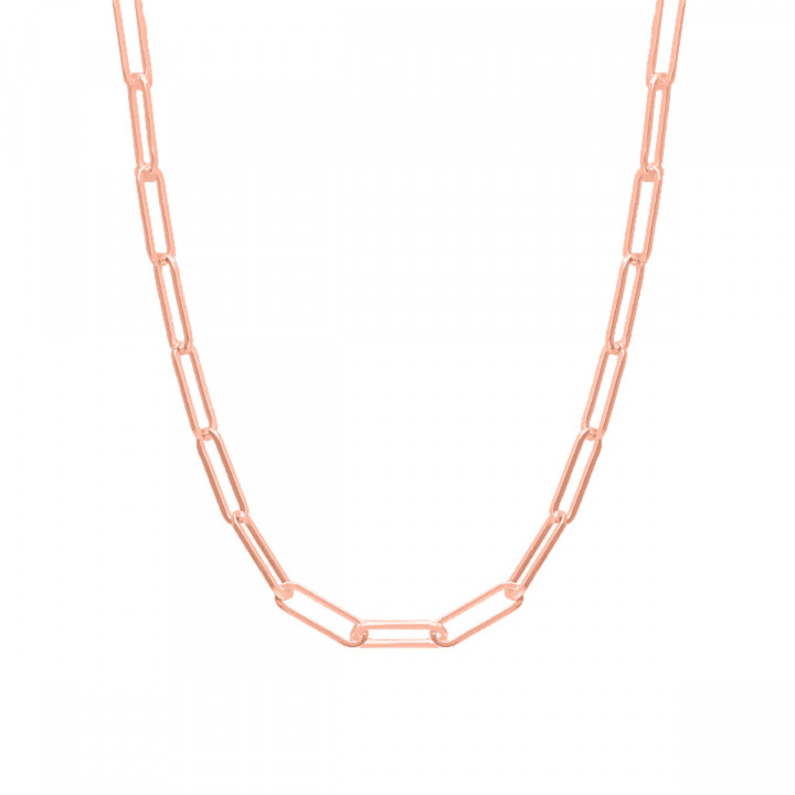 Rose gold-plated chain necklace with large & thick links