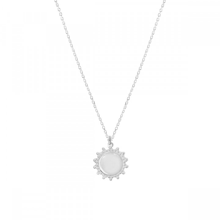 Chain necklace with sun medal