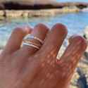 925 Silver and Gold-plated bicolour rings set