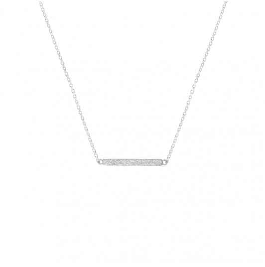 Chain necklace with textured row