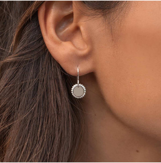 Small Solis medals earrings