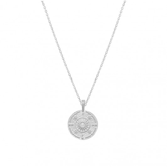 Chain necklace with Sun & zircon medal