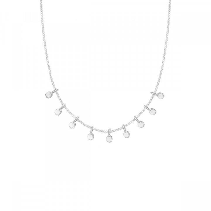 925 Silver chain necklace with hanging petals