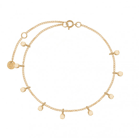 Chain bracelet with hanging petals