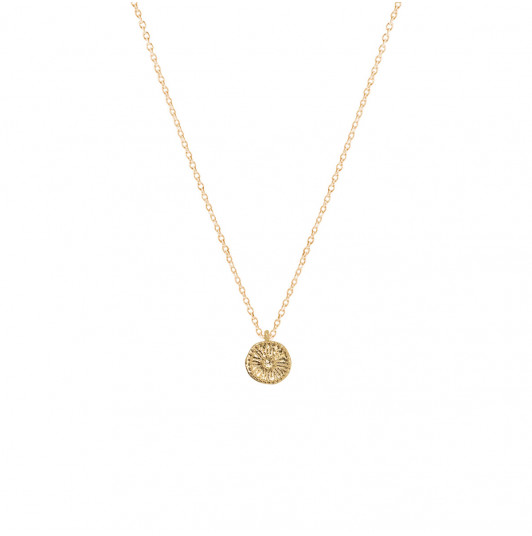 Chain necklace with small flower medal
