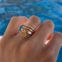 Gold-plated crown band ring