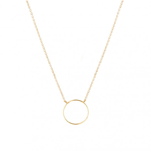 Chain necklace with small ring