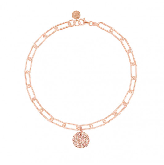 Chain bracelet with thick large links & small Maya medal