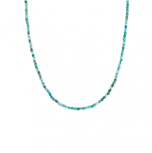Reconstituted Turquoise beads necklace